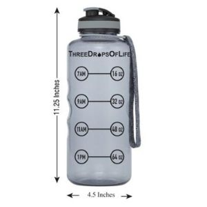 Three Drops of Life 64oz Hydration Tracking Water Bottle
