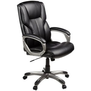Amazon Basics Office Desk Chair with Casters, Black