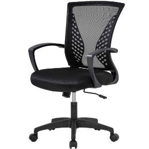 Home Office Chair Mid Back Ergonomic Comfortable Mesh Chair