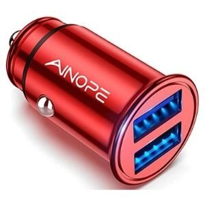 AINOPE 4.8A All Metal Car Charger Adapter-AV801