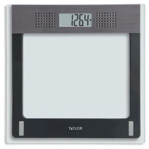 Taylor Electronic Glass Talking Bathroom Scale-7084